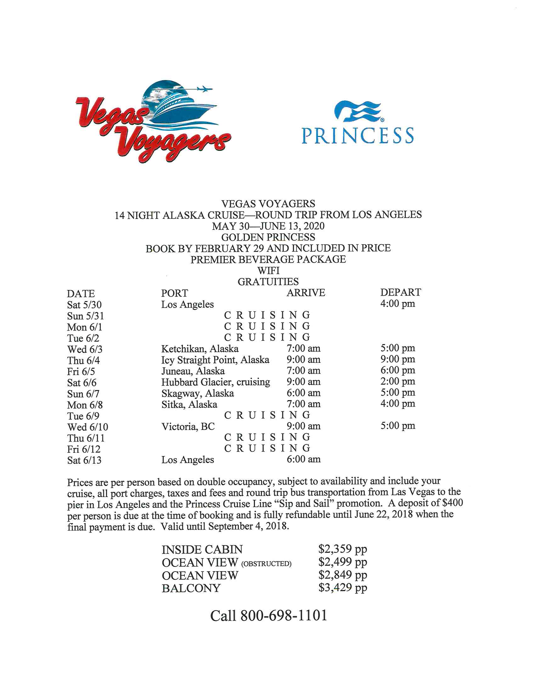 Bus to Boat flyer for May 30, 2020